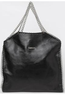Bolsa Lisa Com Correntes - Preta - 35X36X9Cmgriffazzi