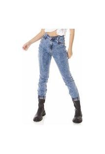 Calça Jeans Denim Zero Mom Fit Tradicional