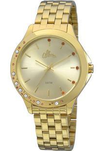 Cissa Magazine. Relógio Dourado Feminino Allora ... a13dbdf3dc