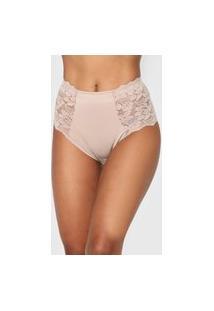 Calcinha Dilady Hot Pant Cavas Confort Bege