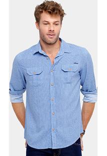 Camisa Colcci Tricoline Mini Estampa Masculina - Masculino