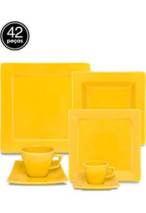 Aparelho Jantar/Chá/Café Oxford 42 Pcs Mail Order Nara Yellow Amarelo