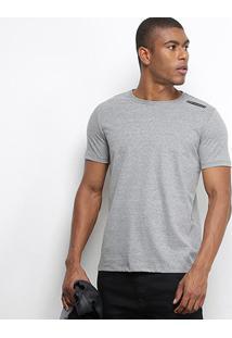 Camiseta T-Shirt Acostamento Básica Masculina - Masculino-Grafite