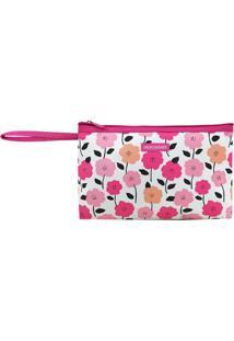 Nécessaire Com Alça- Pink Branca- 15X26X3Cm- Jjacki Design