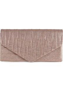 Bolsa Clutch Feminina Envelope Plissado Cobre Cobre