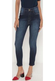 Jeans Super High Ankle Estonado - Azul Escuro- Lançalança Perfume