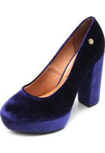 ff26e79be6 ... Scarpin Vizzano Veludo Azul