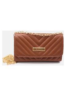 Bolsa Clutch De Mão Feminina Transversal Caramelo