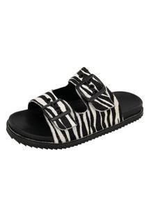 Sandália Birken Feminina Pelo Zebra