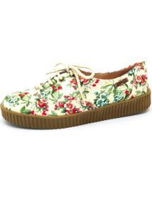 Tênis Creeper Quality Shoes 0048 Floral Amarelo
