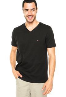 Camiseta Tommy Hilfiger V Preta