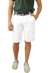 Bermuda Sarja Color Branco