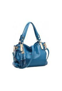 Bolsa Qfy Stylish - Azul