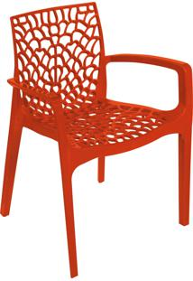 Cadeira Gruvyer Com Braã§O Laranja Or Design - Laranja - Dafiti