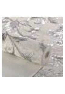 Papel De Parede Lavavel Texturizado Arabesco Chumbo Metalico