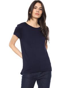 Blusa Lunender Lisa Azul-Marinho