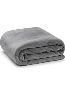 Cobertor Solteiro Microfibra - Loani - Cinza