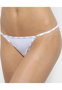 Calcinha String Calvin Klein Básica - Feminino-Branco