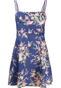 Zimmermann Vestido Mini Evasê Zinnia Com Estampa Floral - Azul