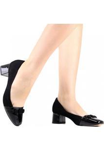 Sapato Scarpin Zariff Salto Grosso Preto
