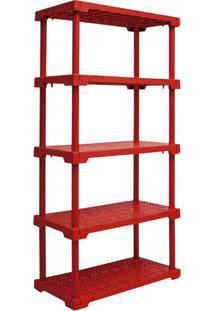 Estante Cube Com 5 Prateleiras Vermelho