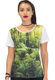 Camiseta Mary Lemon Floresta Branca