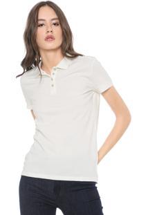 Camisa Polo Calvin Klein Jeans Lisa Off-White