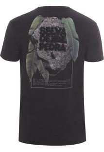 Camiseta Masculina Estampada Selva De Pedra - Preto
