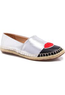 Alpargata Espadrille Zariff Shoes Patches Prata