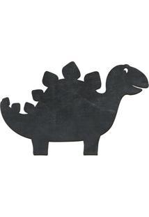 Quadro Decorativo Lousa De Giz Estegossauro- Preto- Cia Laser