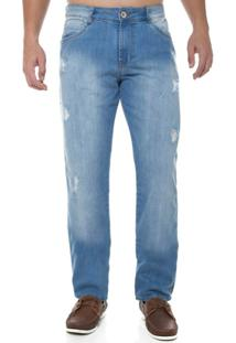 Calça Jeans Slim Fit Z-32 Masculina - Masculino-Azul