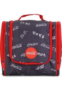 Necessaire Coca-Cola Highland Masculina - Masculino-Chumbo+Vermelho