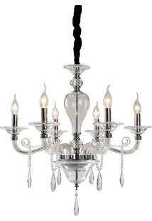Lustre Lamp Show Asaph Cristal Branco - Kanui