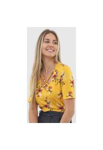 Blusa Malwee Floral Amarela