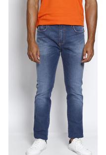 Jeans Alexandre Com Pespontos - Azulforum