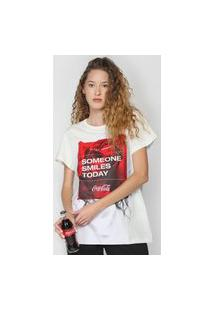 Camiseta Coca-Cola Jeans Smiles Off-White