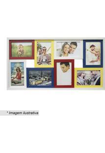 Painel Para 8 Fotos- Branco & Amarelo- 31X61Cmkapos