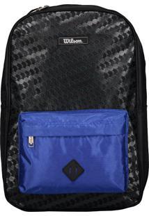 Mochila Wilson Wtix15045E Preta E Azul