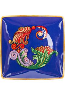 Versace Home Tigela Holiday Alphabet 'G' - Azul