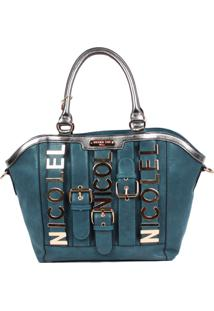 Bolsa Nicole Lee Alice Belt Embellish Blue