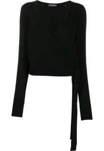 Dolce & Gabbana Cardigan De Cashmere Transpassado - Preto