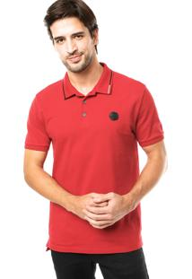 Camisa Polo Calvin Klein Silk Vermelha
