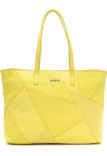 7ac681da2 ... Bolsa Sacola Desigual Relevo Amarelo
