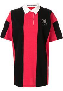 Alexander Wang Camisa Polo Oversized Com Aplicação De Tachas - Vermelho