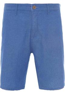 Bermuda Masculina Denim Textura - Azul