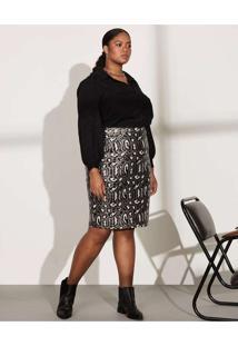 Vestido Almaria Plus Size Pianeta Curto Saia Paetê