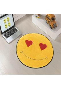 Tapete Formato Feltro Antiderrapante Emoji Apaixonado Coraã§Ã£O - Multicolorido - Dafiti