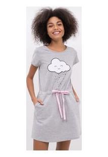 Camisola Com Aplicação De Nuvem