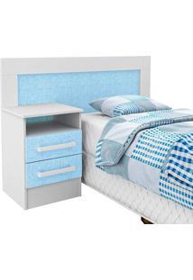 Cabeceira Infantil D081 - Rodial Branco/Azul