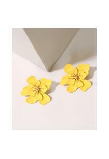 Brinco Feminino De Flor Amarelo